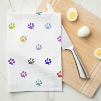 Painted Paws Tea Towel