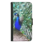 painted peacock samsung galaxy s5 wallet case