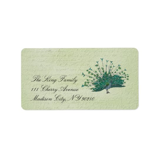 Painted Peacock Vintage  Label