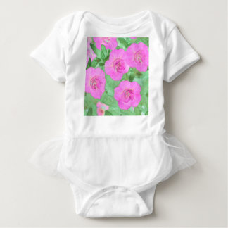 Painted Petunias Baby Bodysuit