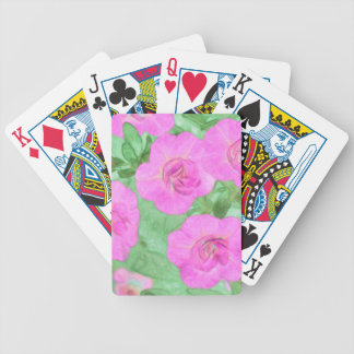 Painted Petunias Bicycle Playing Cards