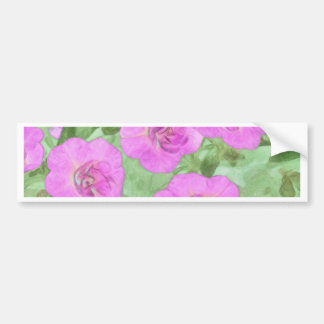 Painted Petunias Bumper Sticker
