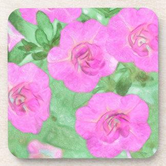 Painted Petunias Coaster