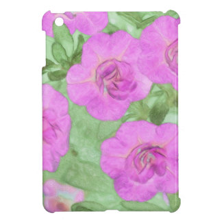 Painted Petunias Cover For The iPad Mini