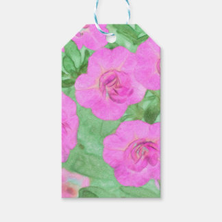 Painted Petunias Gift Tags