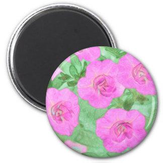 Painted Petunias Magnet