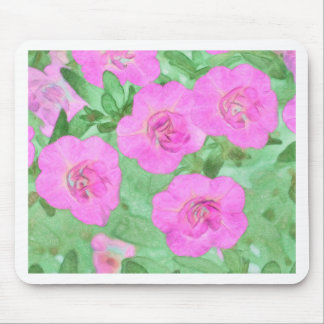 Painted Petunias Mouse Pad