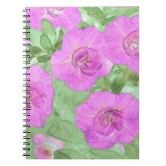 Painted Petunias Notebook