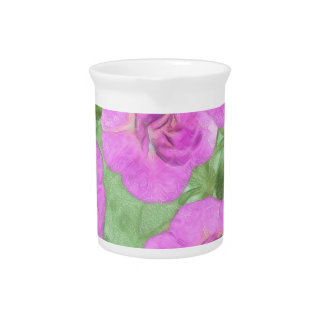 Painted Petunias Pitcher