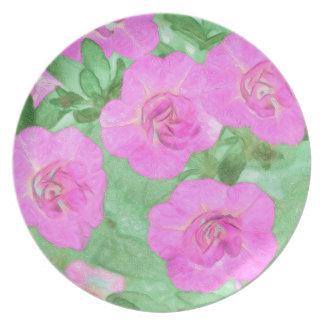 Painted Petunias Plate