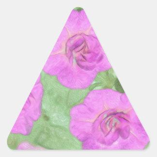 Painted Petunias Triangle Sticker