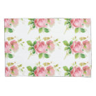 Painted Pink Roses in Vintage style Pillowcase