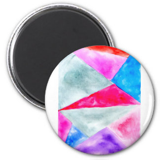 Painted Polygonal Background2 6 Cm Round Magnet