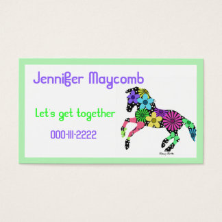 Painted Pony Calling Card