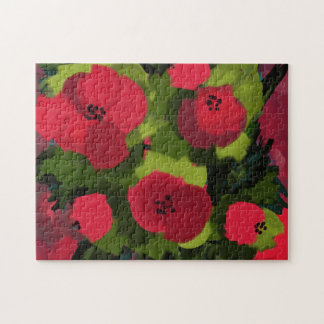 Painted Poppies | Floral Art Jigsaw Puzzle