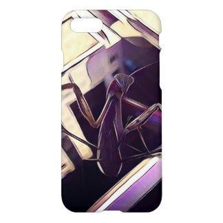 Painted Praying Mantis Purple Phone Case