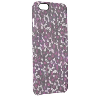 Painted Purple Animal Print Clear iPhone 6 Plus Case