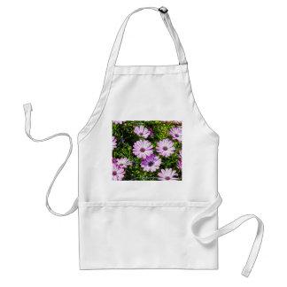 Painted Purple Flowers Aprons