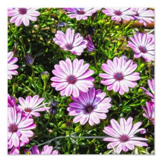 Painted Purple Flowers Photo Print