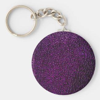 Painted purple gems keychains