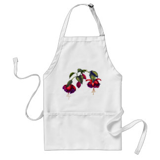 Painted Purple & Red Fuchsias Standard Apron