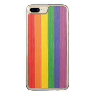 Painted Rainbow Flag Carved iPhone 8 Plus/7 Plus Case