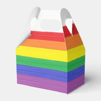 Painted Rainbow Flag Favour Box