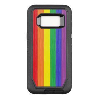Painted Rainbow Flag OtterBox Defender Samsung Galaxy S8 Case