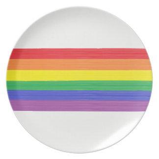 Painted Rainbow Flag Plate