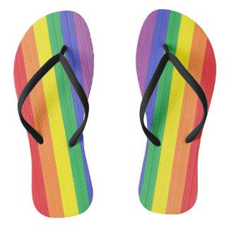 Painted Rainbow Flag Thongs