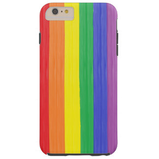 Painted Rainbow Flag Tough iPhone 6 Plus Case