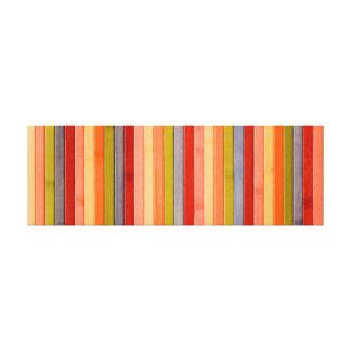 Painted Rainbow Wooden Beach Panel. Canvas Print