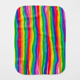 Painted Rainbows Burp Cloth