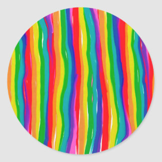 Painted Rainbows Classic Round Sticker
