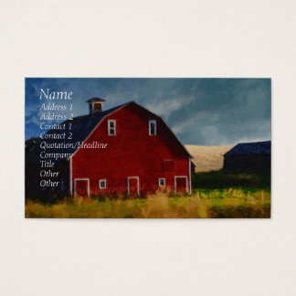 Painted Red Barn Business Card