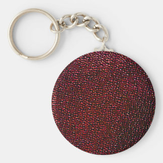 Painted red gems key chains