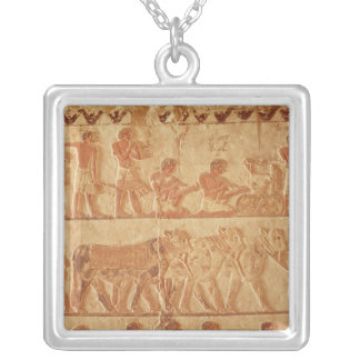 Painted relief depicting necklaces