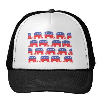 Painted Republican Elephants Trucker Hats