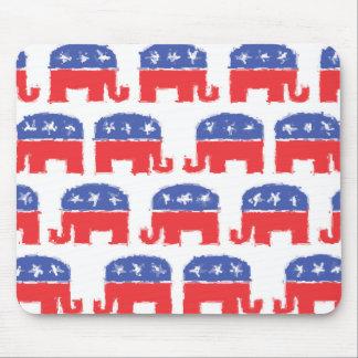 Painted Republican Elephants Mousepads