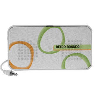 Painted Retro Circles green Doodle Speakers