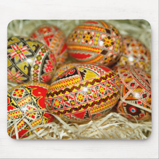 Painted Romanian Easter Eggs Mouse Pad