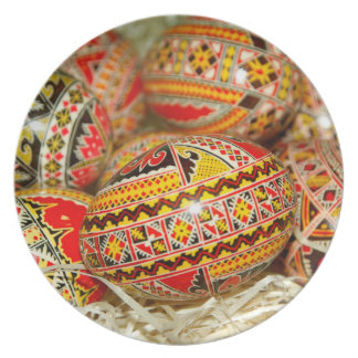 Painted Romanian Easter Eggs Plate