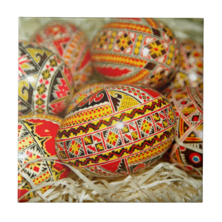 Painted Romanian Easter Eggs Tile