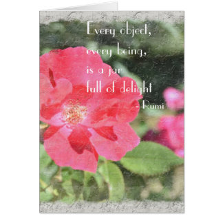 Painted Rose Floral Garden Rumi Quote Card