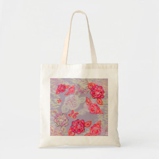 Painted Roses Graphic Tote