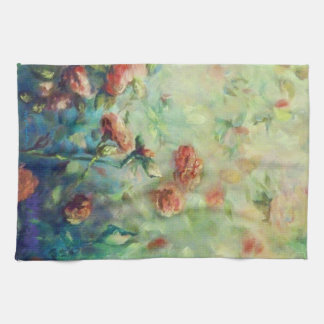 Painted Roses kitchen towel