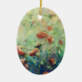 Painted Roses ornament