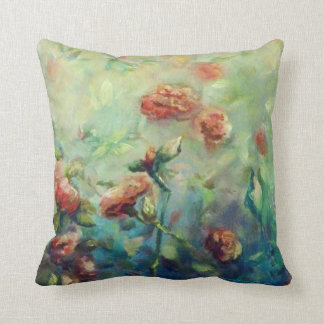 Painted Roses square throw pillow
