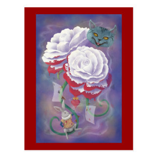 Painted Roses Wonderland Postcards