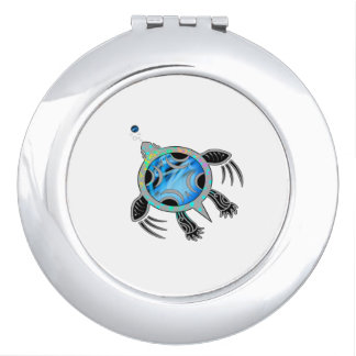 Painted Sea Turtle Compact Mirror